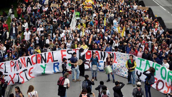 Las protestas de estudiantes en Colombia (Archivo) - Sputnik Mundo