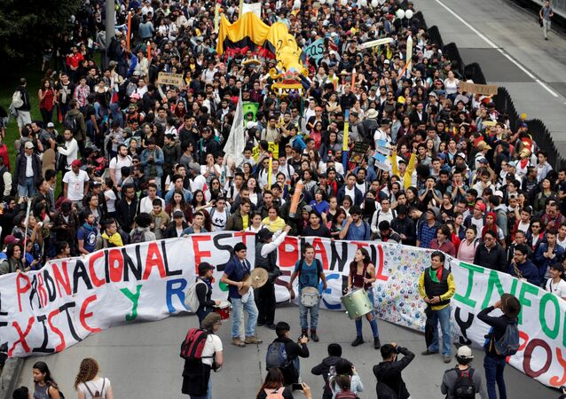 Las protestas de estudiantes en Colombia (archivo)