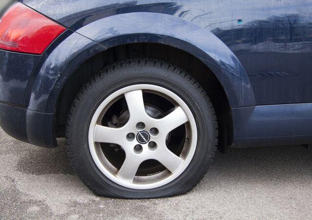 Una rueda pinchada