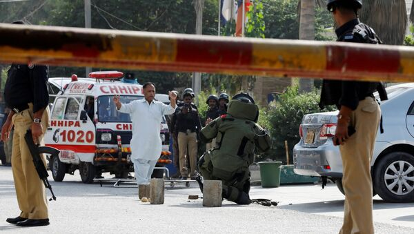 Situación tras el atentado al Consulado general de China en Karachi, Pakistán - Sputnik Mundo