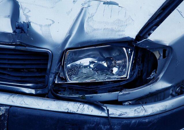 Un accidente de coche, referencial