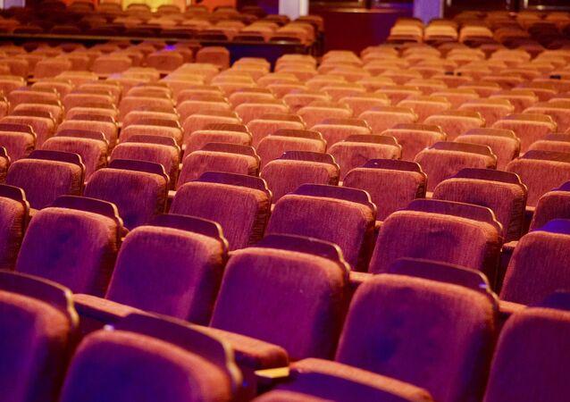 Una sala de cine, imagen referencial