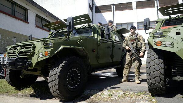 Parte del equipamiento de seguridad de la cumbre del G20 - Sputnik Mundo