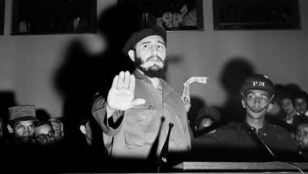 Fidel Castro en su primer viaje a Venezuela tras el triunfo de la Revolución en enero de 1959 - Sputnik Mundo