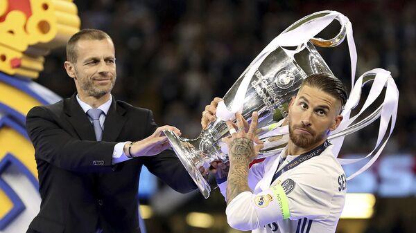 Sergio Ramos, futbolista español, después de la victoria del Real Madrid sobre la Juventus en la Liga de Campeones de 2017 - Sputnik Mundo