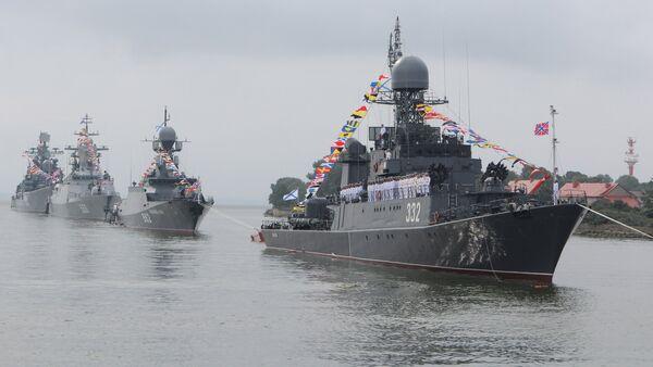 Buques de la Flota del Báltico, incluida la corbeta Stereguschi - Sputnik Mundo