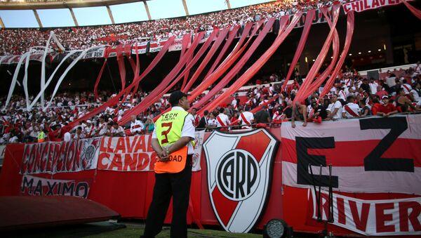 Una tribuna en el partido suspendido entre Boca y River por la final de la Copa Libertadores - Sputnik Mundo