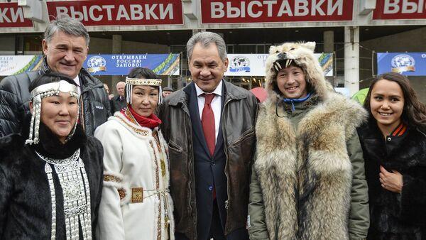 Serguéi Shoigú, ministro de Defensa ruso, en un festival de la Sociedad Geográfica Rusa - Sputnik Mundo