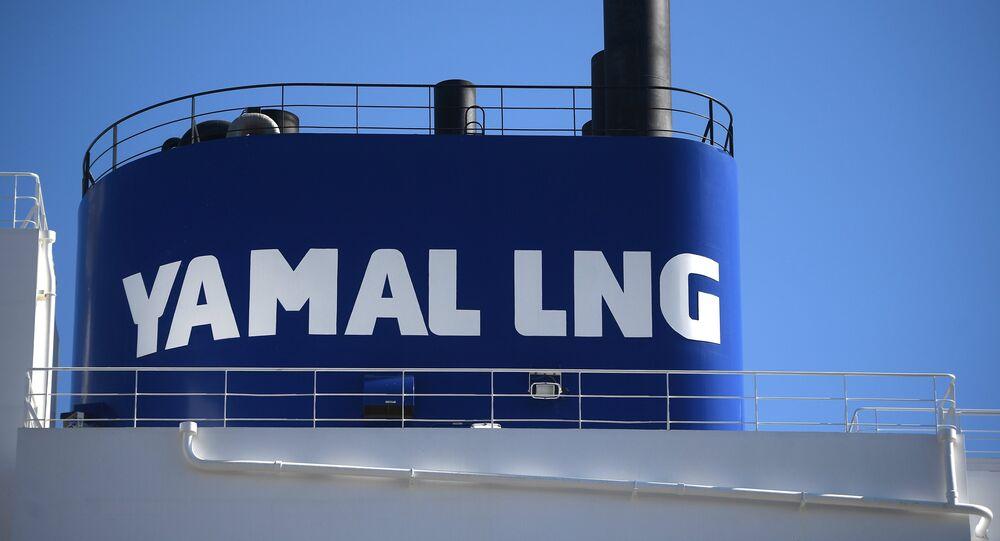 Buque de Yamal LNG con gas natural licuado ruso en China