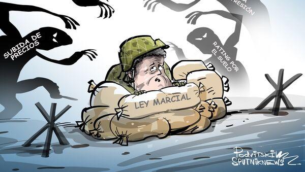 La ley marcial, truco preelectoral de Poroshenko - Sputnik Mundo