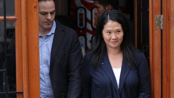 Mark Vito y su esposa, Keiko Fujimori (archivo) - Sputnik Mundo