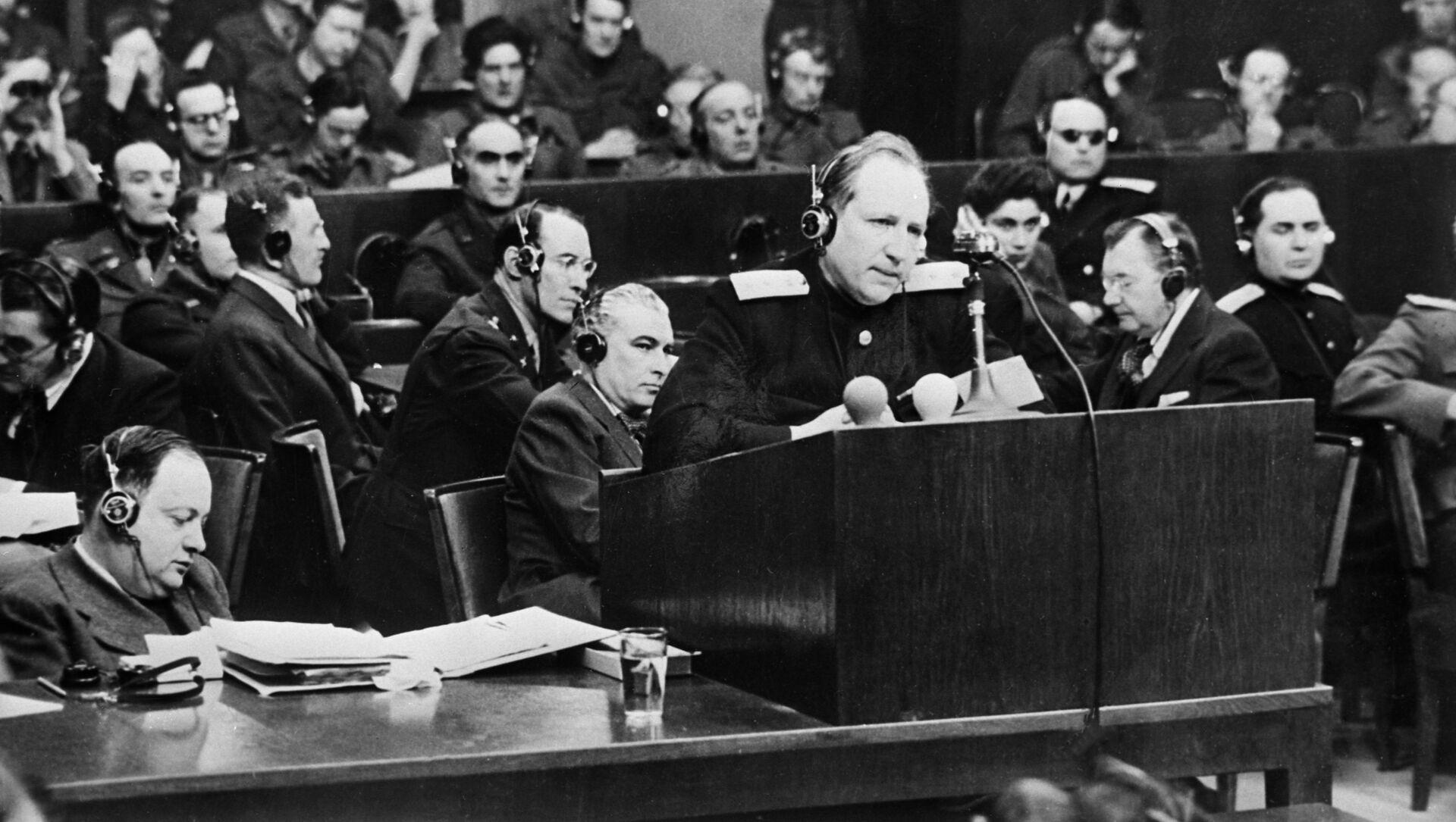 Román Rudenko, fiscal jefe por parte de la Unión Soviética en los Juicios de Núremberg - Sputnik Mundo, 1920, 29.11.2018
