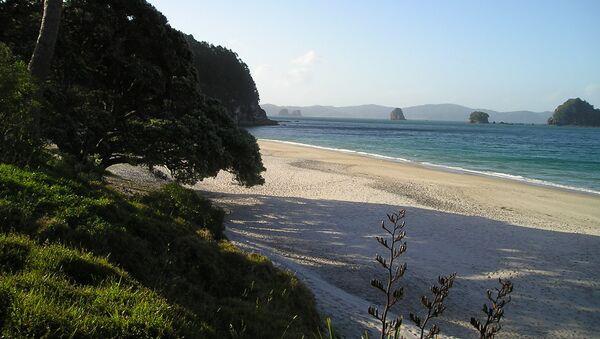 Una playa en Nueva Zelanda - Sputnik Mundo