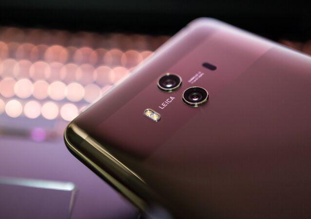 Un teléfono inteligente de la marca Huawei