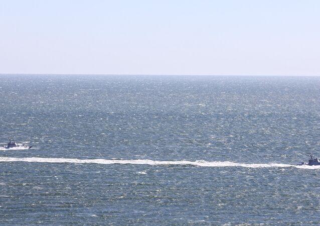 Las maniobras de Ucrania en el mar de Azov (archivo)