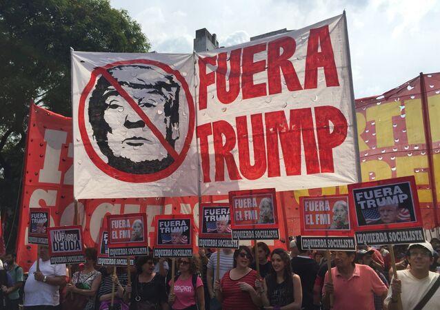 Manifestación anti G20 en Buenos Aires