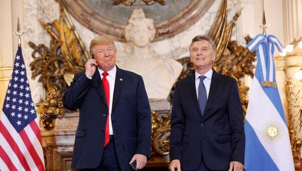 El presidente de EEUU, Donald Trump y su homólogo de Argentina, Mauricio Macri - Sputnik Mundo