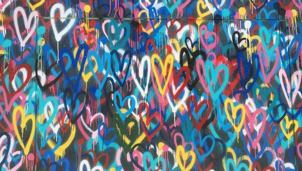 Los corazones pintados en la pared - Sputnik Mundo