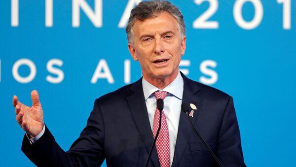 Mauricio Macri, presidente de Argentina, en rueda de prensa durante la cumbre del Grupo de los 20 - Sputnik Mundo