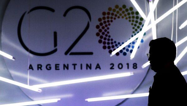Logo de G20 en Argentina - Sputnik Mundo