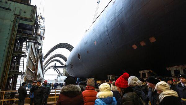 La solemne botadura del cuarto submarino atómico del proyecto 955A Borei, Knyaz Vladimir - Sputnik Mundo
