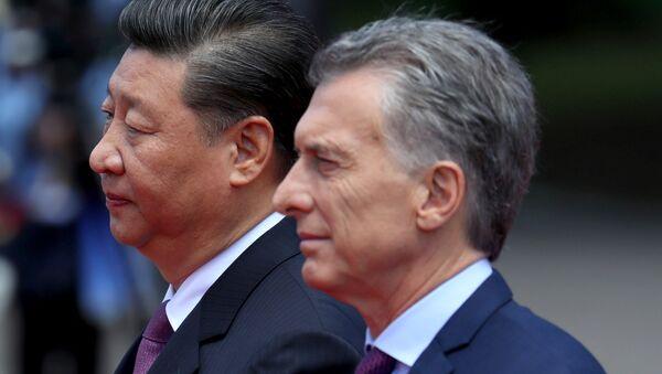 Presidente de China, Xi Jinping, y presidente de Argentina, Mauricio Macri - Sputnik Mundo