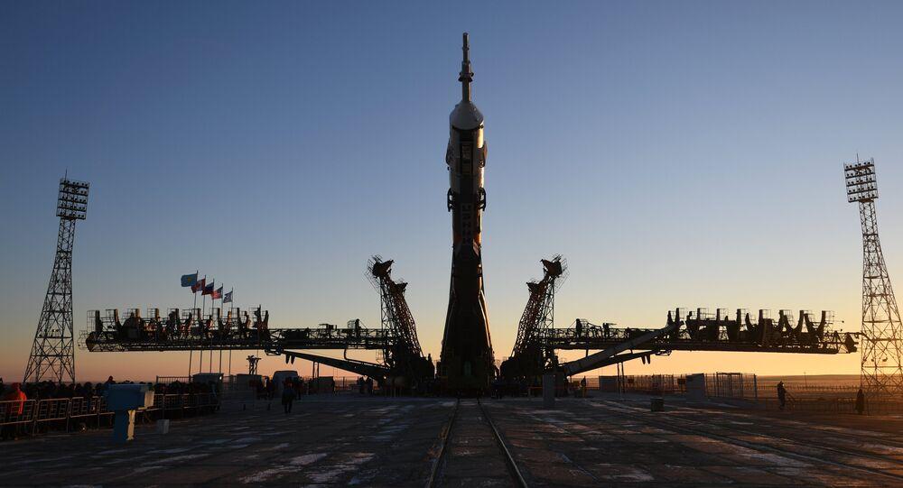 Una nave espacial Soyuz