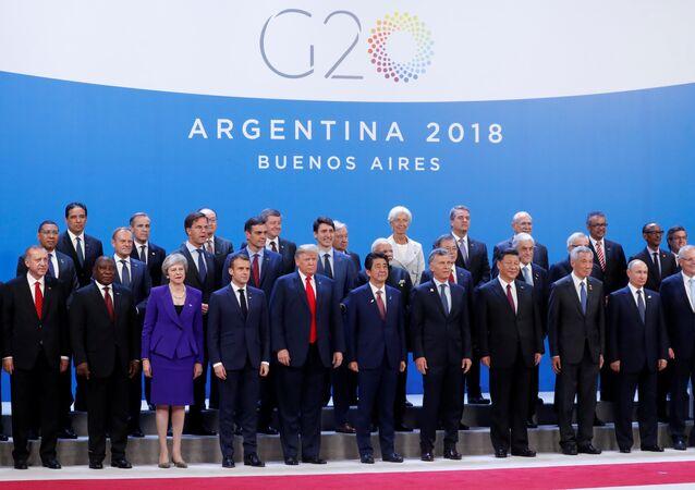 Los líderes del G20