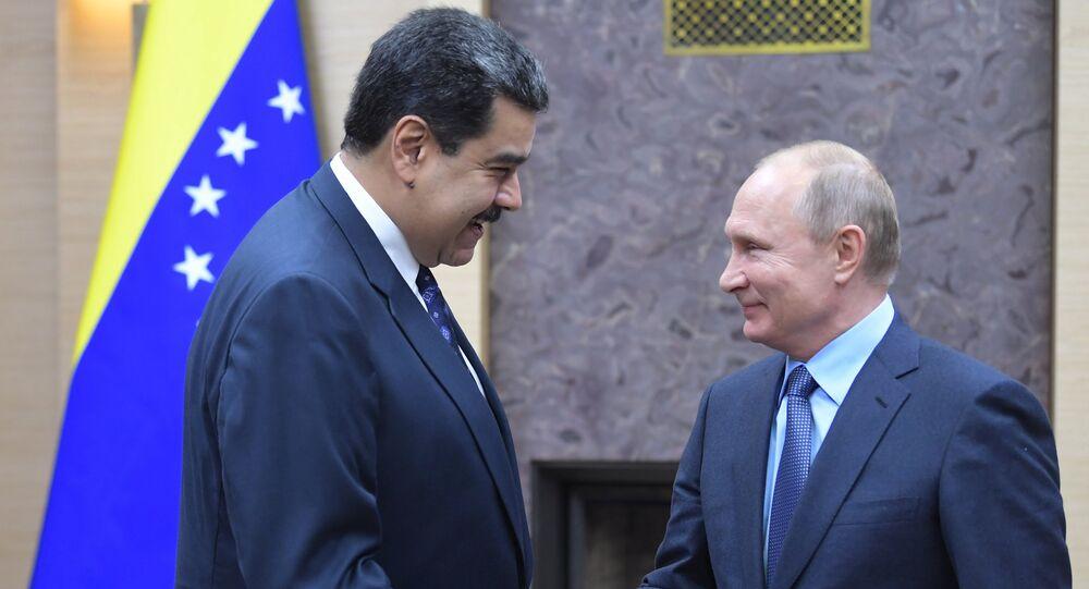 El presidente de Venezuela, Nicolás Maduro, y el presidente de Rusia, Vladímir Putin (archivo)