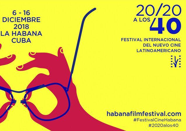Póster oficial del Festival Internacional del Nuevo Cine Latinoamericano edición 40