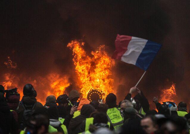 Las protestas de 'chalecos amarillos' en París, Francia