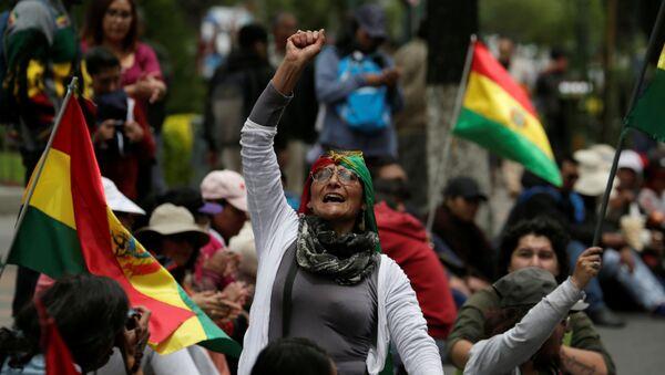 Protestas contra el presidente boliviano, Evo Morales, en Bolivia - Sputnik Mundo