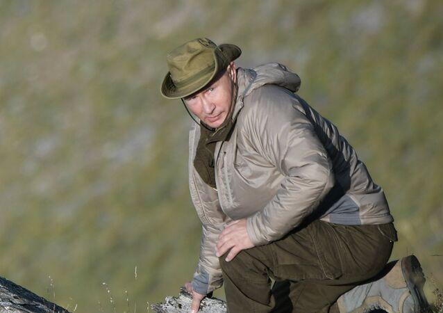 Vladímir Putin, presidente de Rusia, durante sus vacaciones en la región siberiana de Tuva (Rusia), julio de 2018