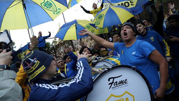 Los hinchas de Boca Juniors en Madrid - Sputnik Mundo