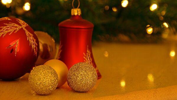 Adornos para árbol de Navidad  - Sputnik Mundo