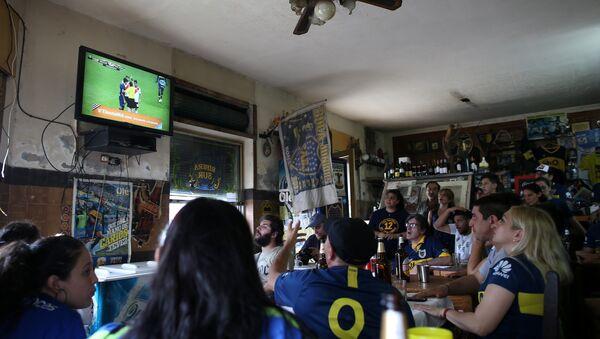 Los hinchas de Boca Juniors en Buenos Aires - Sputnik Mundo