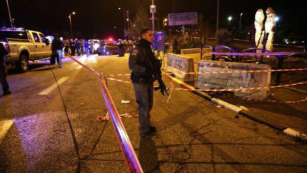 Lugar del tiroteo cerca de Ofra, en Cisjordania - Sputnik Mundo