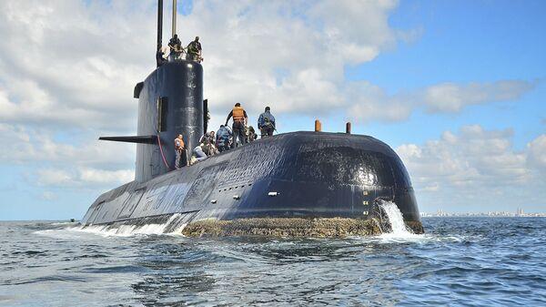 El submarino argentino ARA San Juan (archivo) - Sputnik Mundo