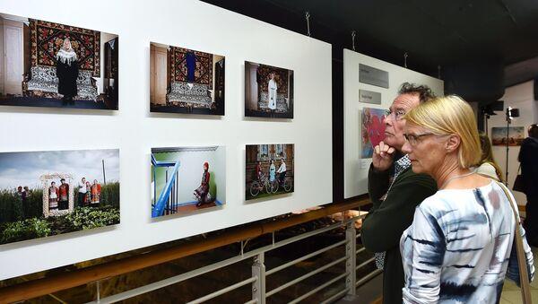 La exposición de obras ganadoras del Concurso Internacional de Fotoperiodismo Andréi Stenin - Sputnik Mundo