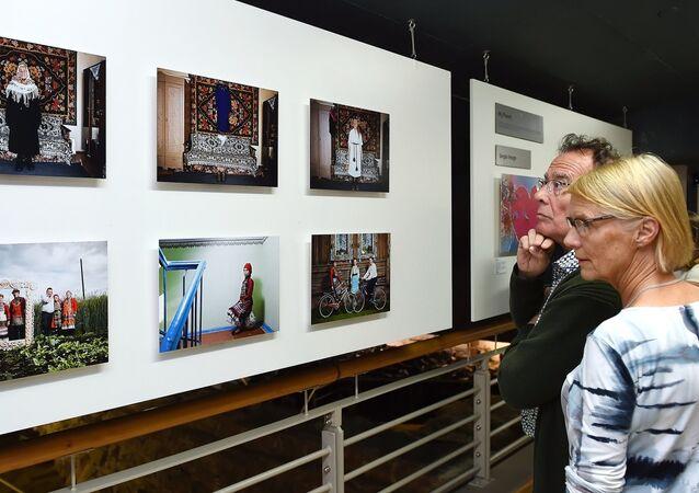 La exposición de obras ganadoras del Concurso Internacional de Fotoperiodismo Andréi Stenin