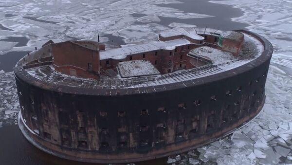 El fuerte ruso 'de la peste', filmado a vista de pájaro - Sputnik Mundo