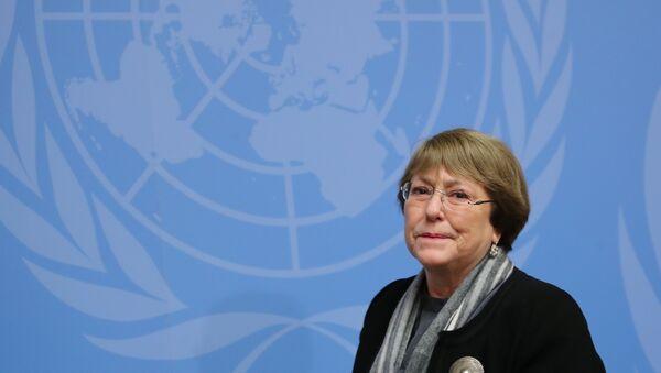 Michelle Bachelet, alta comisionada de DDHH de la ONU - Sputnik Mundo