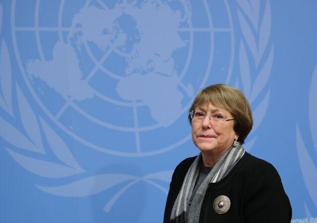 Michelle Bachelet, alta comisionada de DDHH de la ONU