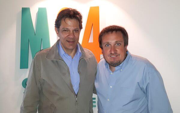 Fernando Haddad(iz) y Fabián Cardozo - Sputnik Mundo