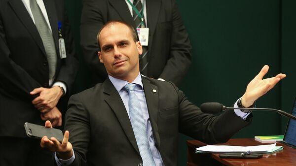 El diputado federal Eduardo Bolsonaro, hijo del presidente de Brasil Jair Bolsonaro - Sputnik Mundo