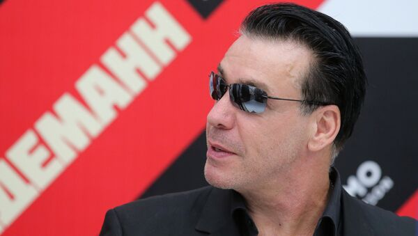 Till Lindemann, vocalista de la banda alemana Rammstein - Sputnik Mundo