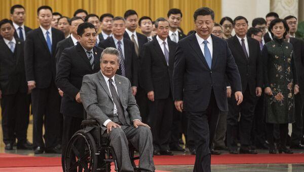 El presidente de Ecuador, Lenín Moreno y el presidente de China, Xi Jinping - Sputnik Mundo