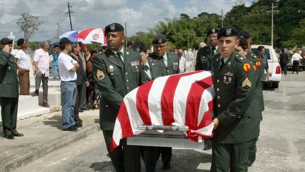 Un funeral de una mujer caída en combate de Puerto Rico - Sputnik Mundo