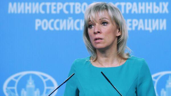 María Zajárova, la portavoz del Ministerio de Asuntos Exteriores ruso - Sputnik Mundo