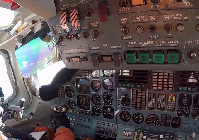La cabina de uno de los Tu-160 en Venezuela